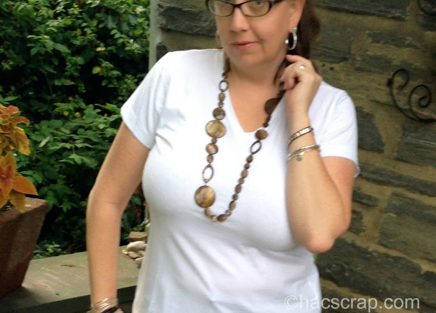 Mid-Life Mom Style, Statement Necklace and Bracelet Stack