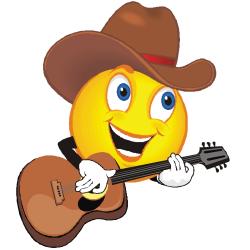 émoticône avec une guitare