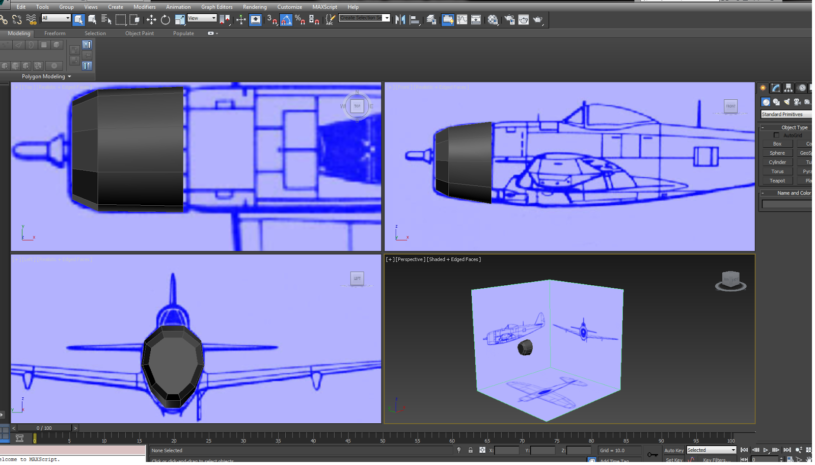 3d modelling and animation week 3 modelling an aircraft the presence of the blueprint images make modelling accurately and to scale much easier going forward when i start working on my star wars models i can see malvernweather Choice Image