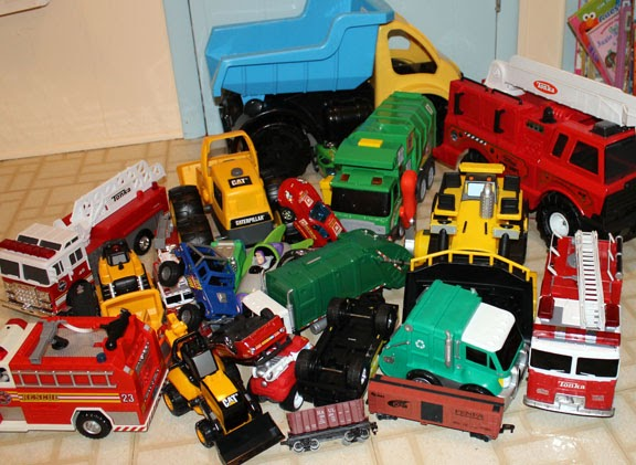 Toy Cars And Trucks : Family love home toy trucks organized