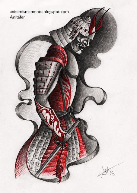 Diseño Tatuaje Samurai