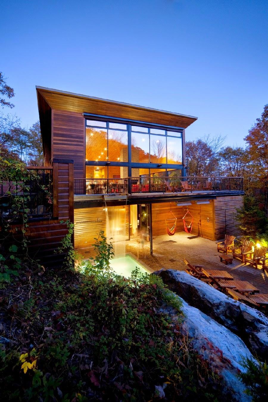 Desain Resort Kayu yang Modern Dengan Pemandangan Menenangkan 19