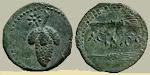 MONEDA DE ACINIPO, CIUDAD ROMANA, A 5 KM DE SETENIL. SIGLO II A. C. Y PRINCIPIOS DEL SIGLO I A.C.