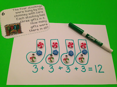 Challenge students to solve these Christmas word problems {FREEBIE}