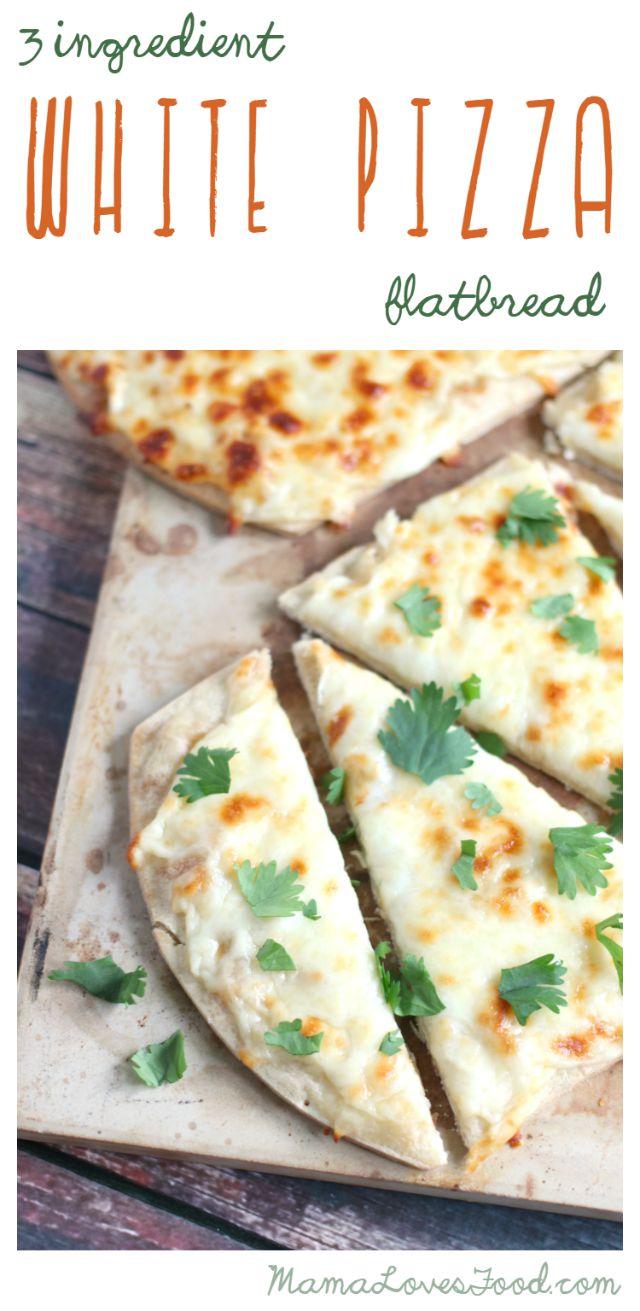 Three Ingredient White Pizza Flatbread