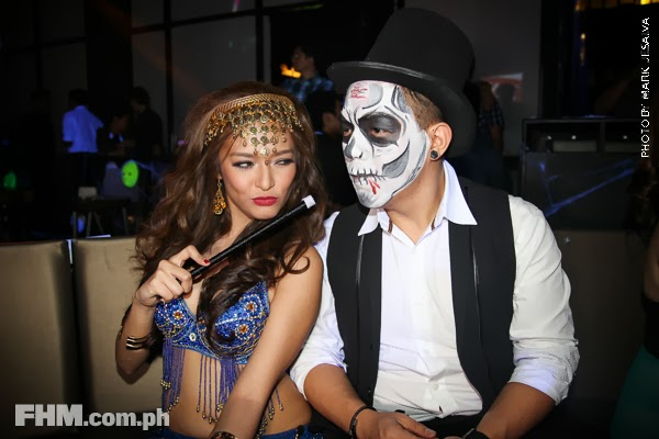 bangs garcia naked pics at 2013 fhm halloween ball