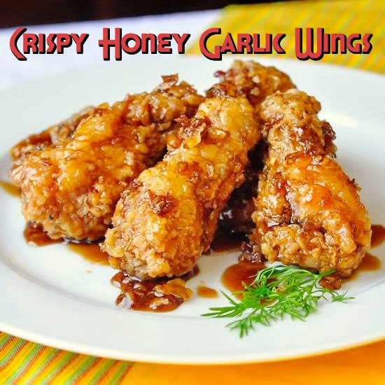 Crispy Honey Garlic Chicken Wings