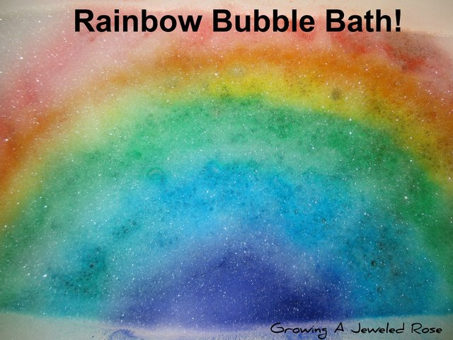 rainbow bubbles- bath time fun