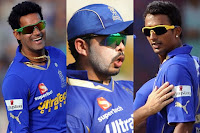 Sreesanth, Ankit Chavan and Ajit Chandila
