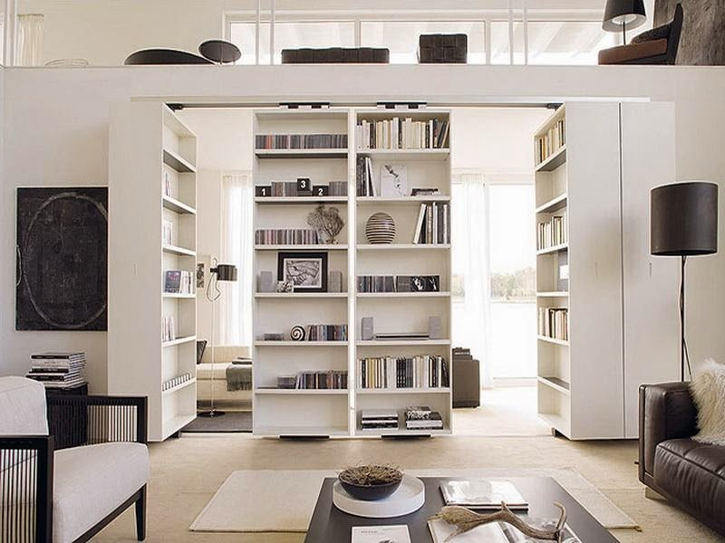 IKEA Room Divider book shelves