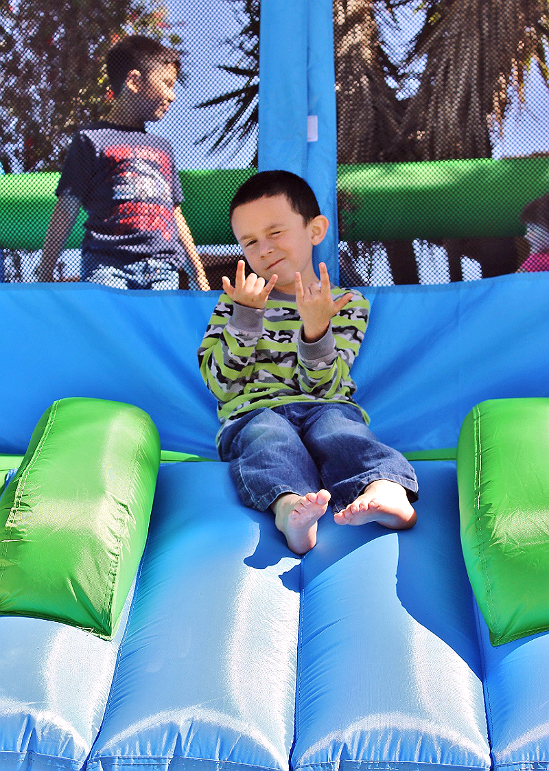 Own your own bounce house or inflatable for a fraction of the cost of rentals, with Blast Zone. Featured is the Big Ol Bouncer with a 12' x 15' footprint and 600lb capacity! #sponsored