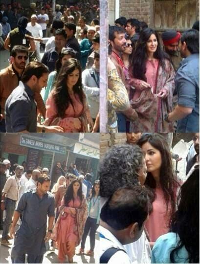 Saif Ali khan and Katrina spotted at Punjab to shoot upcoming Phantom movie