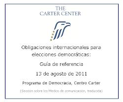 Obligaciones internacionales para elecciones democráticas.