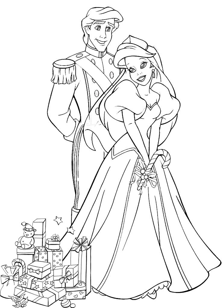 prince and princess coloring pages - photo#7
