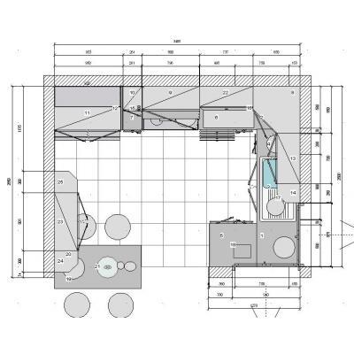 Dise o de cocinas en 3d fotorealismo planos dise o de for Medidas cocina restaurante