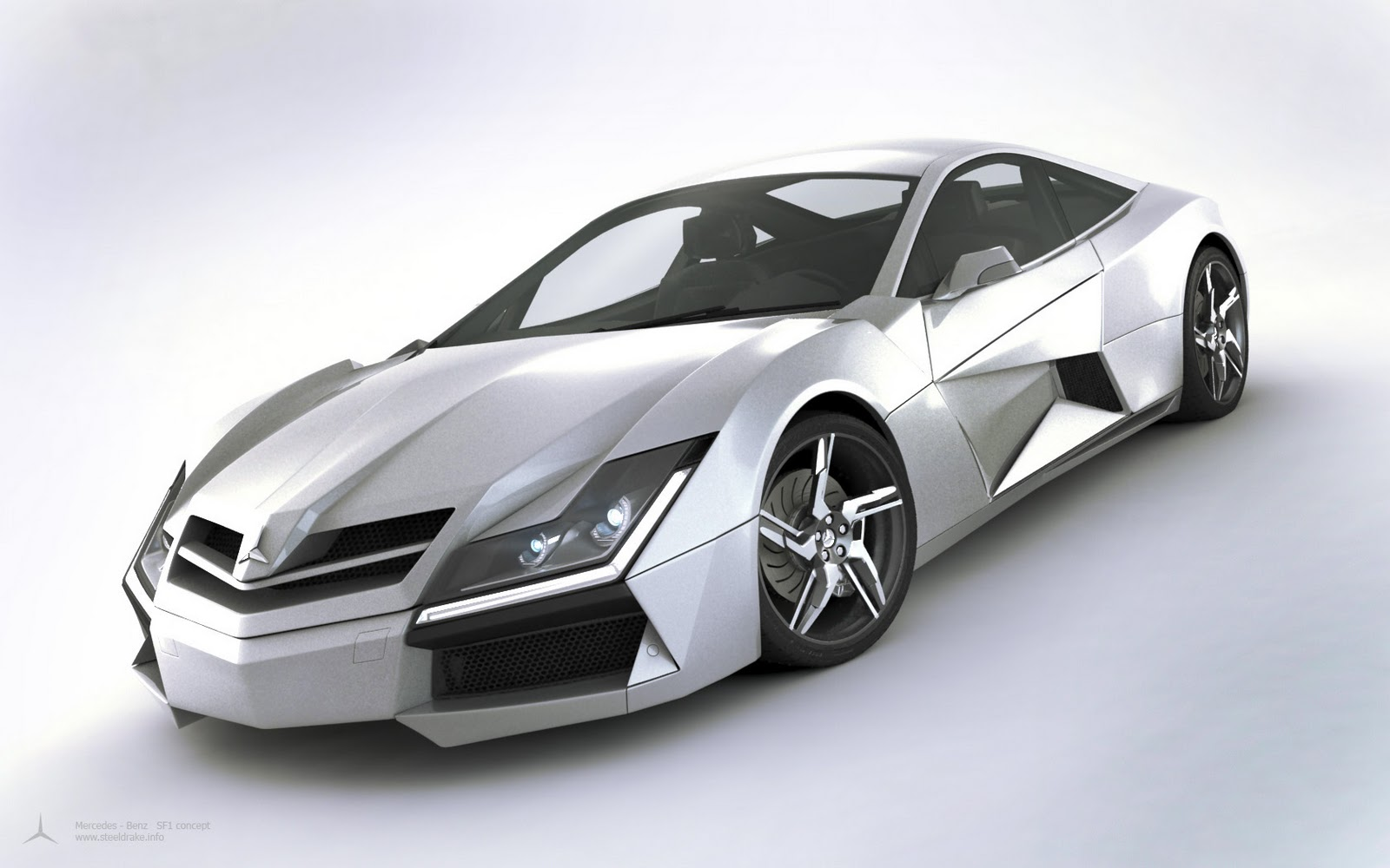 Super punch mercedes benz sf1 concept car for Sports car mercedes benz
