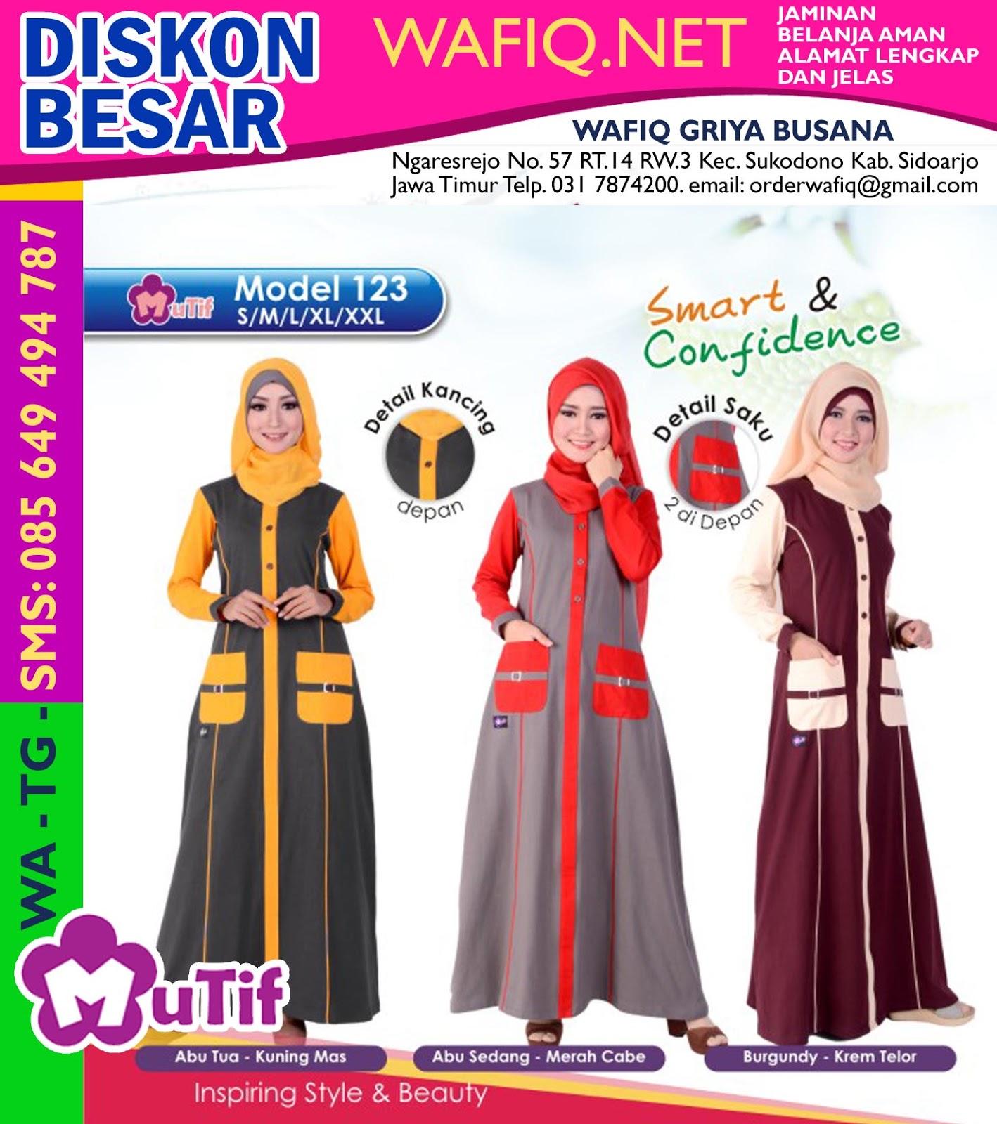 Baju Mutif Atasan Gamis Model Baru Diskon Besar Wafiq