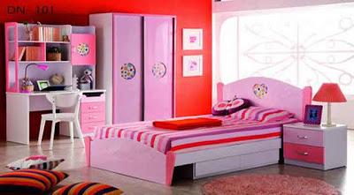 Desain Interior Ruang Tidur Pink Minmalis 06