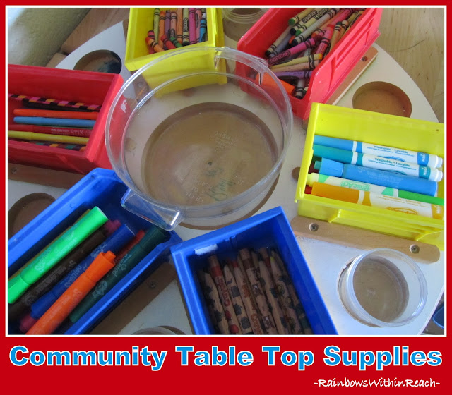 photo of: Classroom Table top Community Supplies