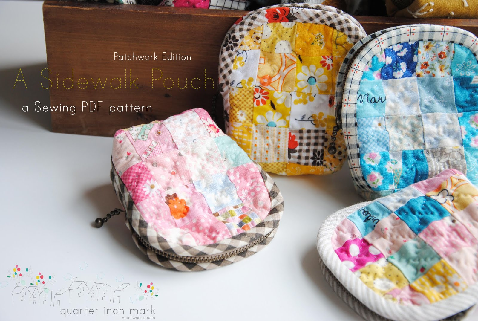 A Sidewalk Pouch Sewing Pattern