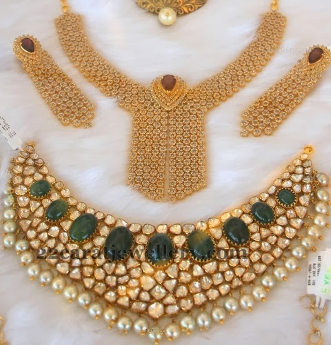 Kundan Pachhi Necklace Sets
