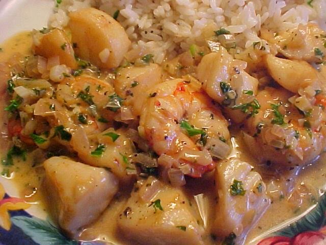 timbale de riz et crevettes sauce au chevre