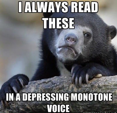 Depressing Monotone Voice