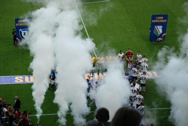 Początek meczu o Superpuchar Polski - fot. Tomasz Janus / sportnaukowo.pl