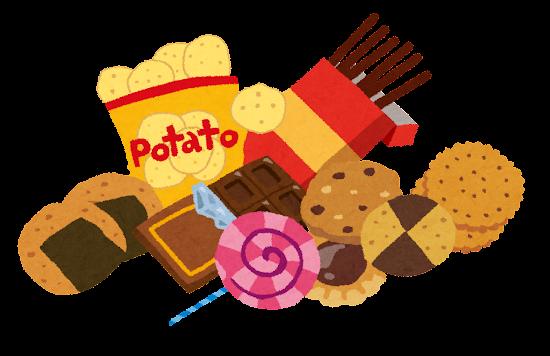 スナック菓子・ジャンクフードのイラスト