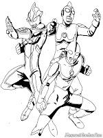 Halaman Mewarnai Gambar Ultraman