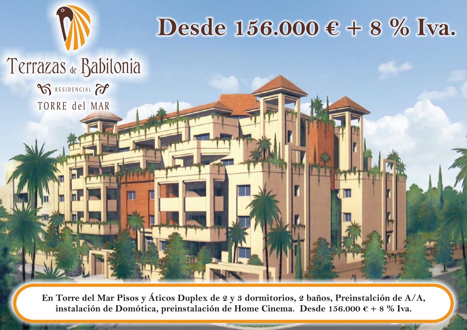 Ure a inmobiliaria nueva promoci n a la venta en torre del mar terrazas de babilonia - Pisos en venta en torre del mar ...