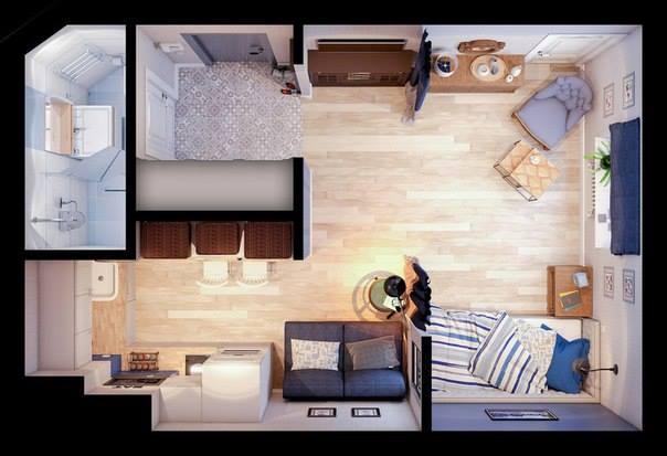 Vivienda Studio de 24 m2