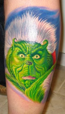 Christmas Grinch Tattoo