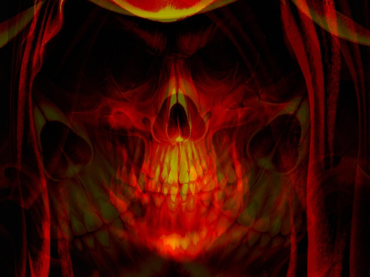 android phones wallpapers: android wallpaper skull in fire