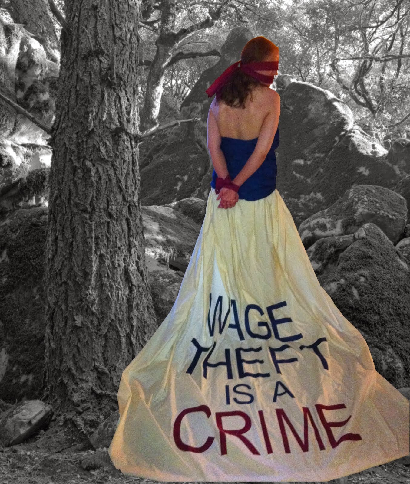 My Wage Theft Wedding Dress