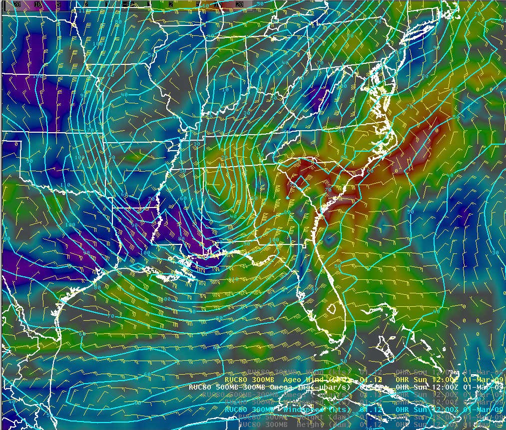 an isotach map shows continuous lines of equally measured wind speed the above photograph shows a winter storm in march of 2009 over the united states
