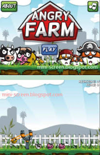 Angry Farm Game Interface for BlackBerry
