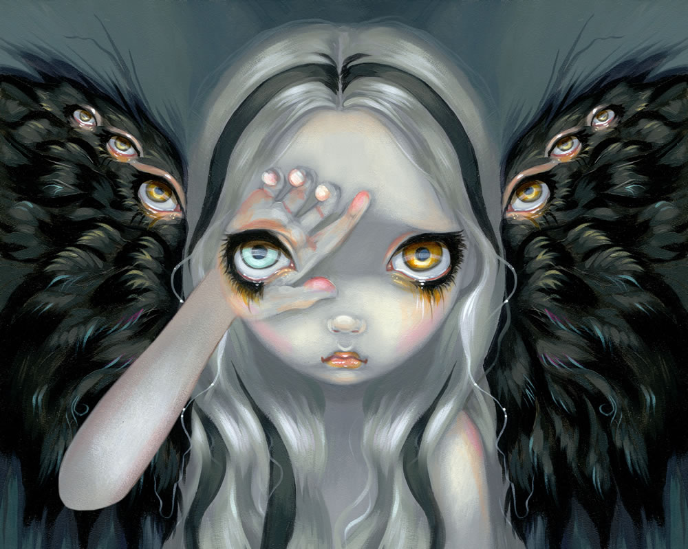 Jasmine Becket-Griffith is an artist who likes to depict strange beings, the kind that live in dark magic forests. She works most with acrylics on canvas, ...