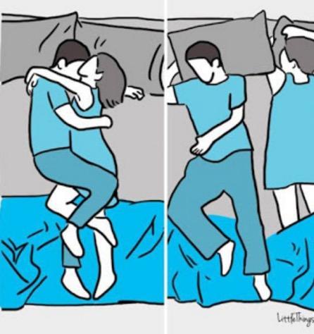 9 Jenis Posisi Tidur Ini Akan Memperlihatkan Isi Hati Pasangan yang Sebenarnya