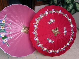 Payung geulis dari kertas dan kain