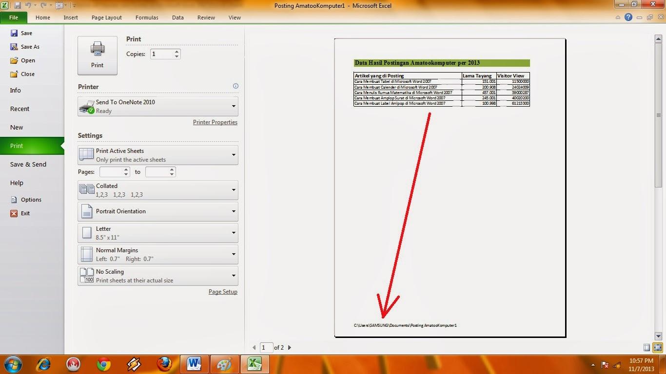 ... : Cara Membuat Header dan Footer di Microsoft Excel 2007/2010