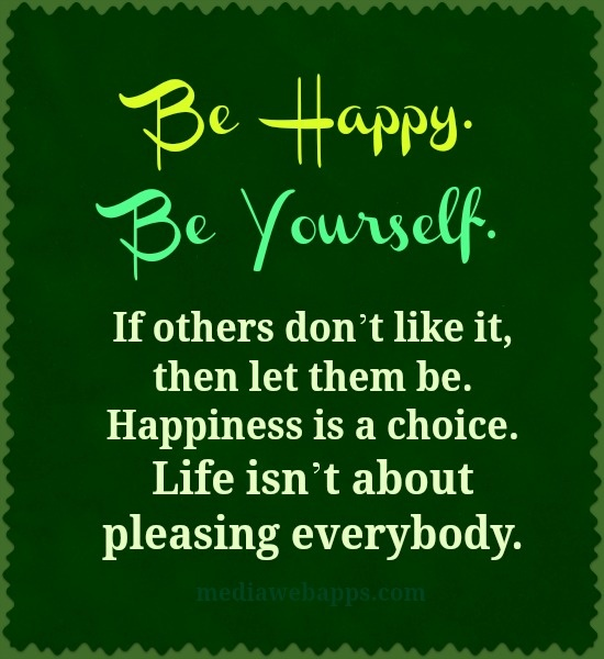 inspirational picture quotes be happy be yourself
