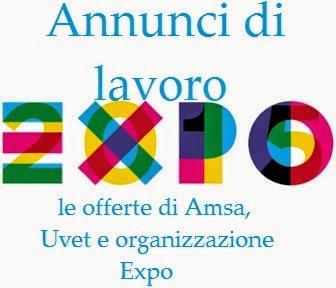 Nuovi annunci di lavoro Expo 2015