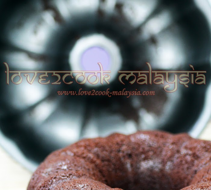 Love2cook Malaysia Eggless Condensed Milk Chocolate Cake