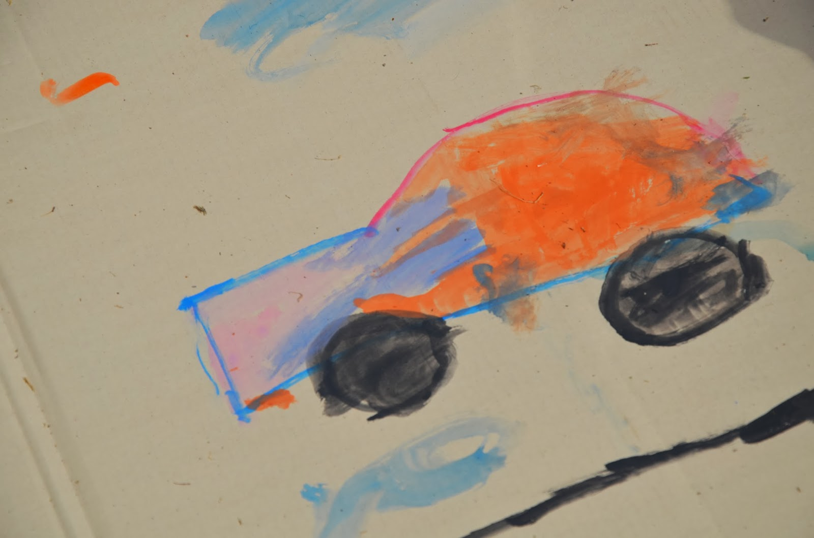 A car by a 5yo
