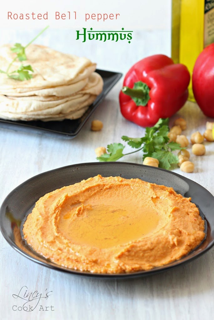 Hummus with roasted Bell pepper