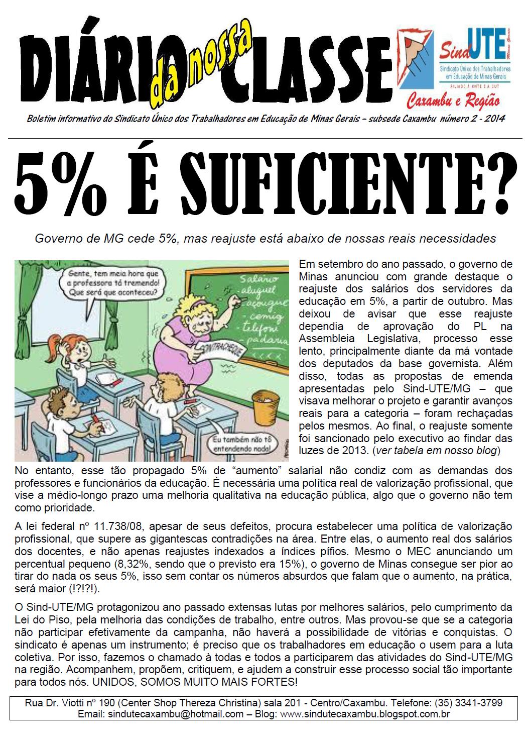 Jornal Diário da nossa Classe 02/2014