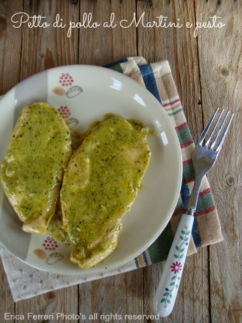 Petto di pollo al Martini e pesto