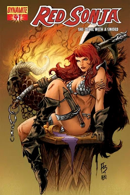 Red Sonja - Red headed warrior princess fantasy art female warrior