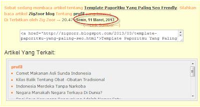 manipulasi tanggal postingan